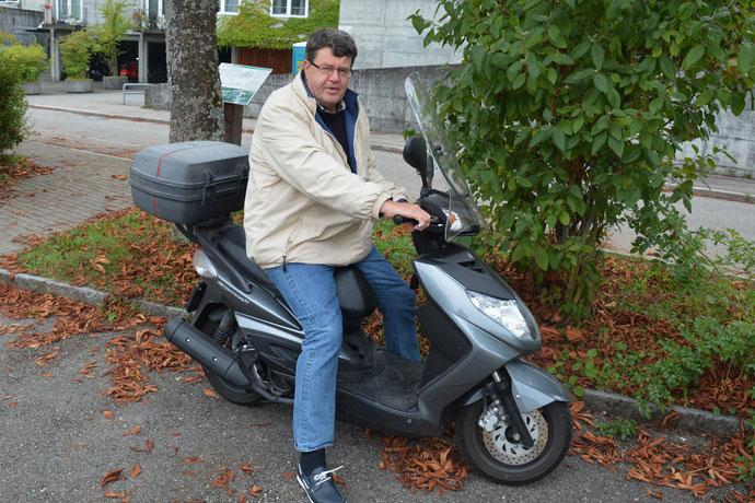 Thomas Bornhauser, ein passionierter Rollerfahrer