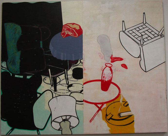 """Grosse Idylle"", 2008, Öl auf Leinen, 220 x 270 cm"