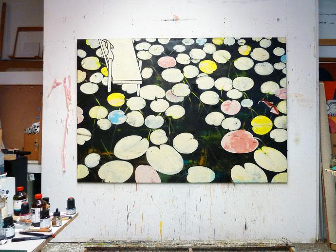 """""""PD.Fund.W.See/25-07-2014,MEZ 7:42. I"""", 2014, Öl auf Leinen, 140 x 210 cm"""