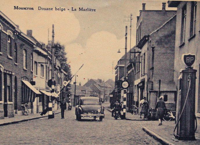 La douane belge à Mouseron La Marlière en 1958