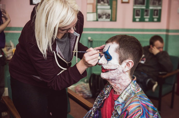 Natha Head - Behind the scenes: Make up for Theatre of Fear