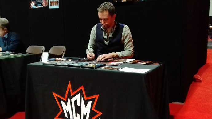 Nathan Head - signing at MCM Birmingham 2018