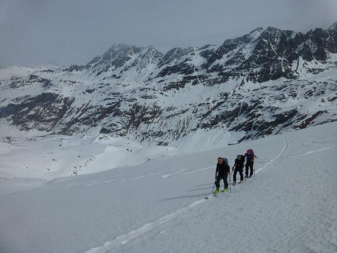 Skitour Piz Fora, Vadret dal Güx