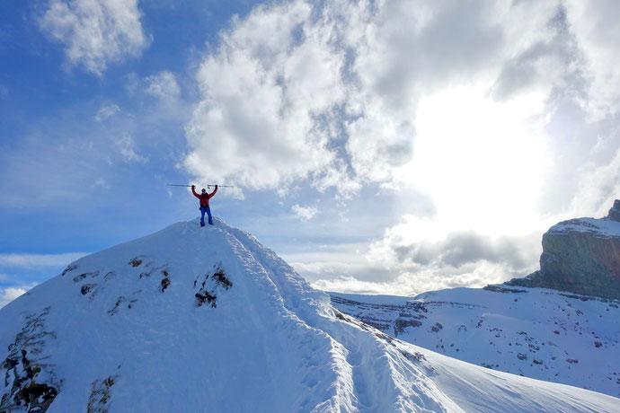 Skitour, Schwyz, Zentralschweiz, ÖV, Rossstelli, Weglosen, Twäriberg, Druesberg, Forstberg, Gross Mythen. Sommergipfel, Hauptgipfel
