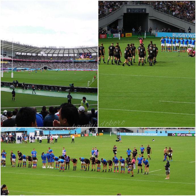 東京スタジアムでのラグビーワールドカップ2019