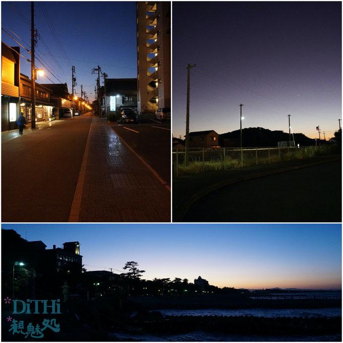 二見浦夜の参道