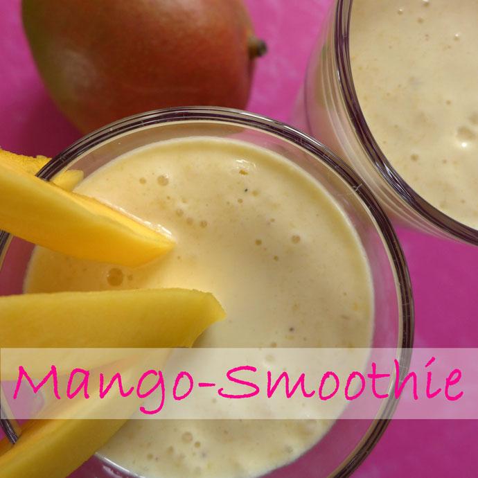 Rezepte - Fit in den Frühling - Mango-Smoothie - DIY-Projekt