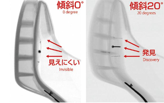 同時2画面のX線撮像で、死角を減少