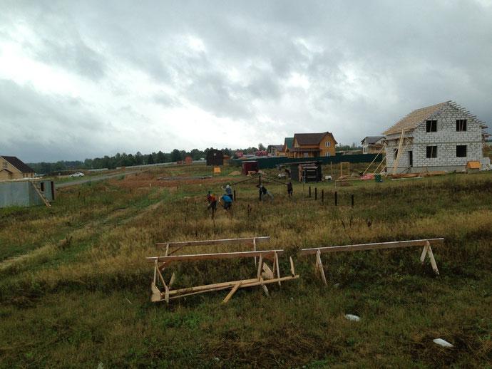 строительство винтового свайного фундамента ле шале