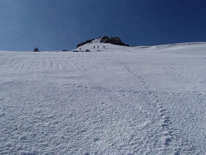 安達太良山山頂直下