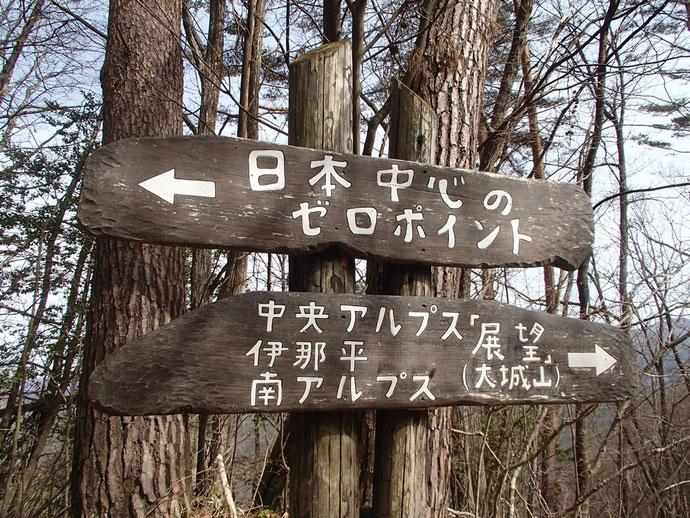 大城山の道標