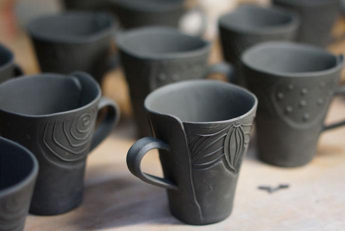 仲本律子 R工房 女性陶芸家 茨城県笠間市 ブログ コーヒーカップ 粉引作品