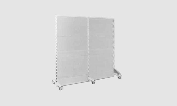 Industrieakustik modulare mobile Akustikstellwand aus Metall