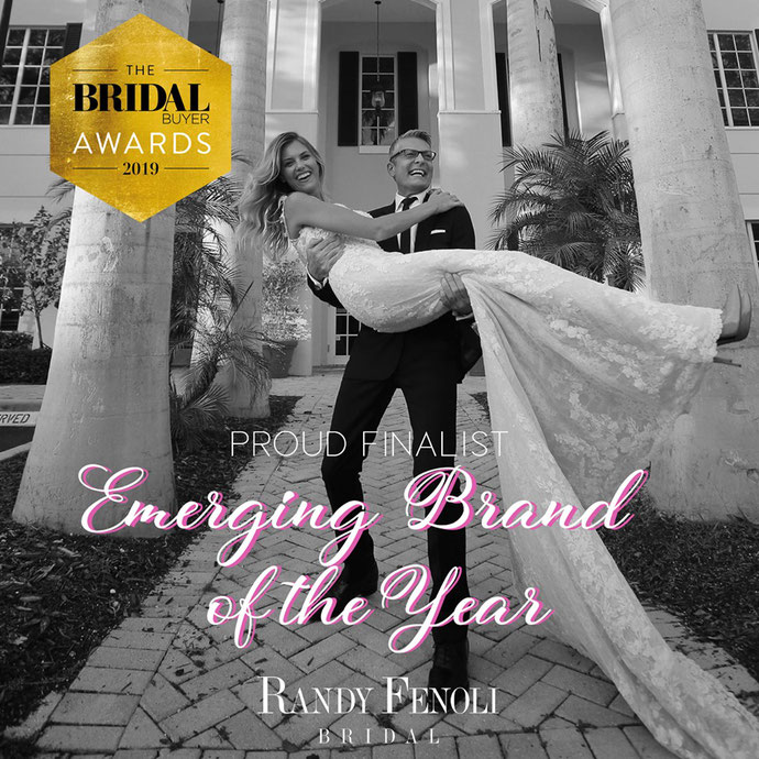 "Randy Fenoli Bridal ist nominiert für ""Emerging Brand of the Year"" von The Bridal Buyer Awards 2019. Randy Fenoli in Köln bei Audrey Wedding Salon"