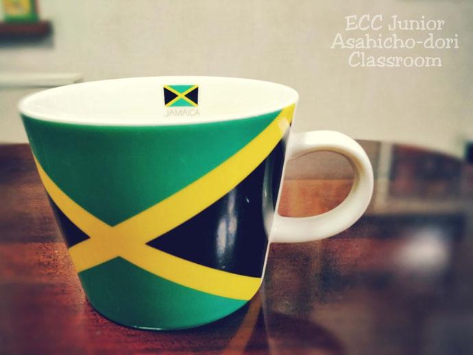 ジャマイカの国旗デザインのマグカップ