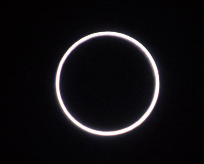 Ringvormige zonsverduistering, 26/2/2017 - Foto: Ronnie Wuyts