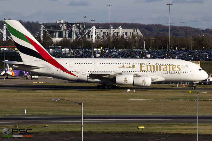 A6-EOS A380-861 203 Emirates @ Birmingham Airport 11.2017 © Piti Spotter Club Verona