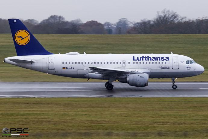 D-AILM A319-114 694 Lufthansa @ Birmingham Airport 11.2017 © Piti Spotter Club Verona