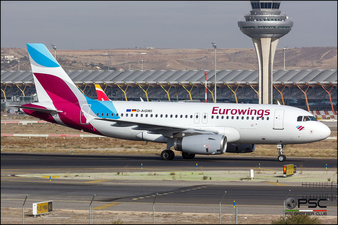D-AGWI A319-132 3358 Eurowings @ Madrid Airport 23.11.2017 © Piti Spotter Club Verona