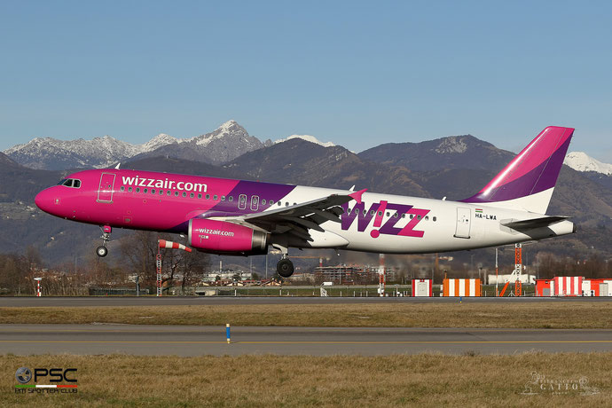 HA-LWA A320-232 4223 Wizz Air @ Bergamo Airport 01.2018 © Piti Spotter Club Verona
