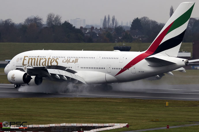 A6-EUP A380-842 228 Emirates @ Birmingham Airport 11.2017 © Piti Spotter Club Verona