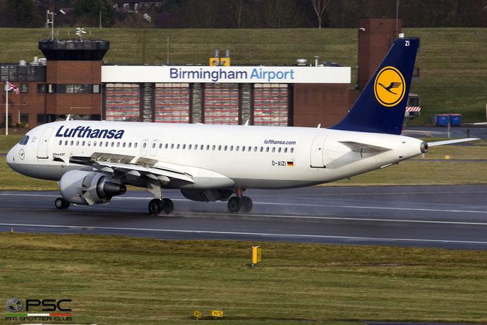 D-AIZI A320-214 4398 Lufthansa @ Birmingham Airport 11.2017 © Piti Spotter Club Verona