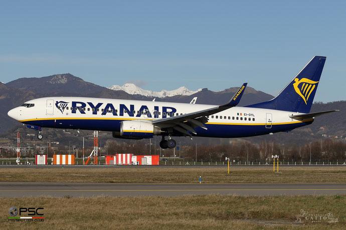 EI-DYL B737-8AS 36574/2635 Ryanair @ Bergamo Airport 01.2018 © Piti Spotter Club Verona
