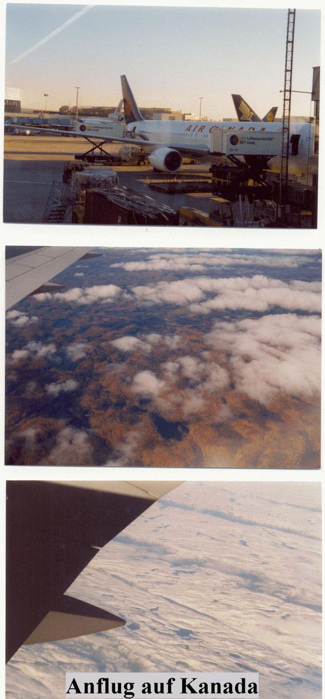 Anflug auf Kanada