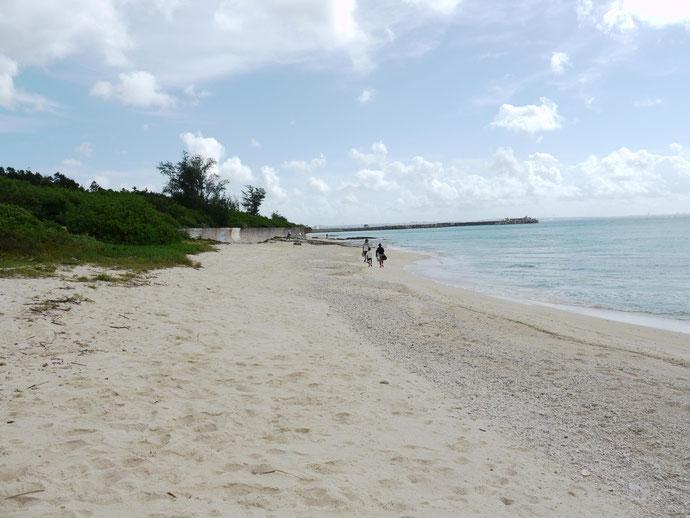 アパートから歩いて行けるビーチ。ほぼ一人じめできてしまう