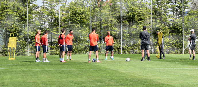 Admira Wacker trainiert derzeit wie alle Bundesligavereine in Kleingruppen mit Sicherheitsabstand