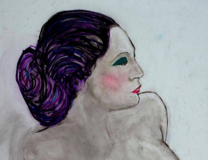 "Lola, The Mentalist (Endless Impossibilities Series), 2014, oil on vellum, 32x26"""