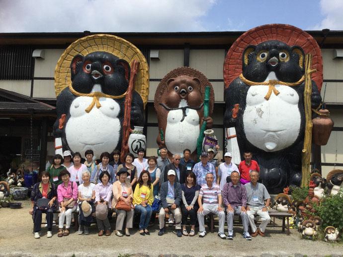 近江八幡タヌキ村で陶芸をしました。