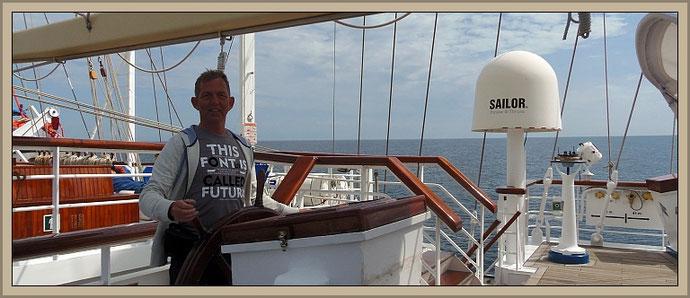 Beratung zur Segelkreuzfahrt mit Star Clippers Kreuzfahrten Reisebüroinhaber Olaf Diroll - Betriebs- und Fachwirt für Touristik - hier an Bord Star Flyer