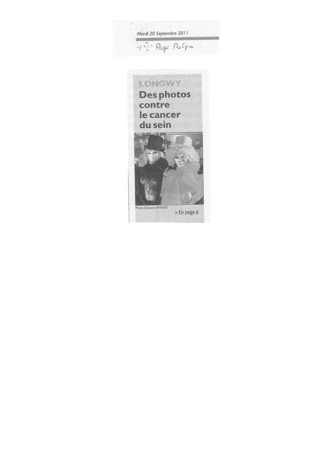 Extrait du rébublicain Lorrain du 20/09/2001