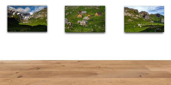 Meglisalp, Berggasthaus Meglisalp, Marcel Schiegg, Alpstein, Appenzell, Appenzellerland, Wandbild, Alu Dibond, Dibond, Creativeprint