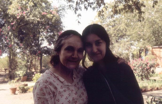 Mehera & Sher at Meherazad, January 1975