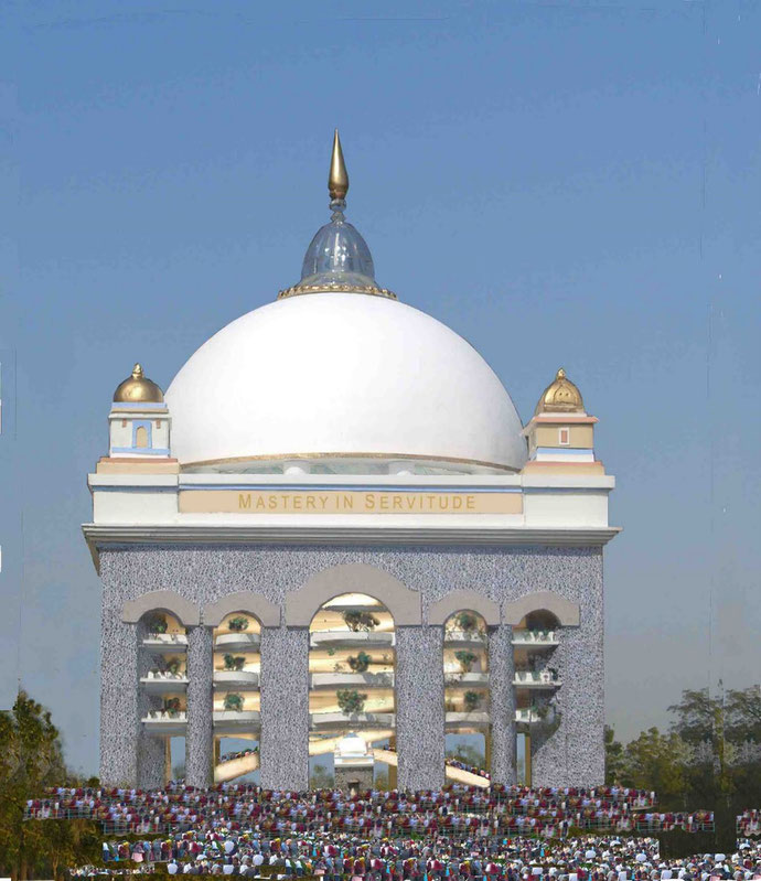 Proposed building over Meher Baba's tomb
