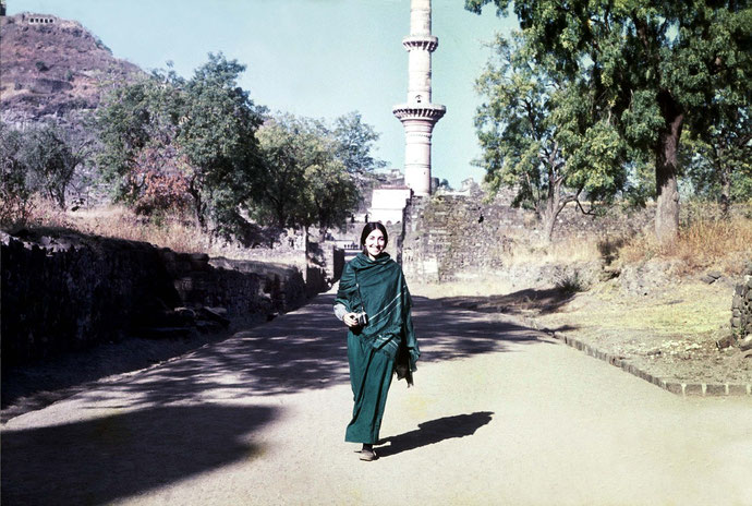 Sher at Daulatabad Fort, Aurangabad,  India- January 1975 : Photo taken by Tony Zois