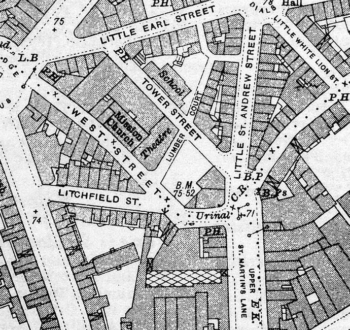 Old map shows another church at the same location ; Courstey of Paul Edwards