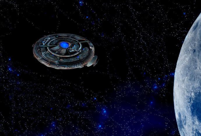 Verzerrungsfilter Polarkoordinaten: Wir basteln ein Raumschiff