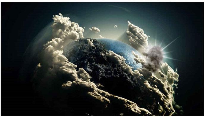 Gog déploie sa puissance jusqu'à couvrir la terre, accompagné de ses armées, ses anges, et des peuples nombreux qui ont choisi de le suivre en se détournant de Dieu. Ampleur et intensité de la rébellion qui ne sera pas isolée mais sur toute la terre.