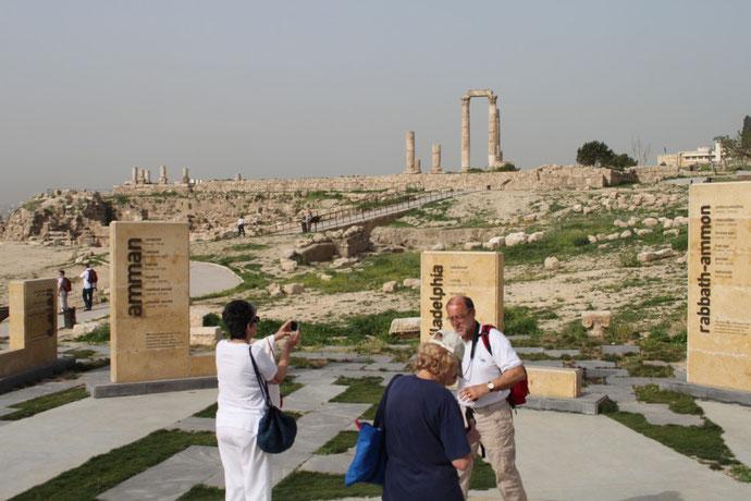 Amman ist hergeleitet von dem Stamm der Ammoniter. die hier siedelten.