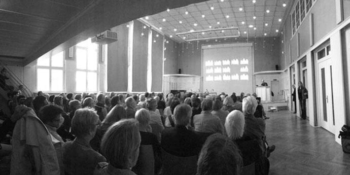 2015: Podiumsdiskussion zum Gründungsviertel in der neuen VHS, Lübeck