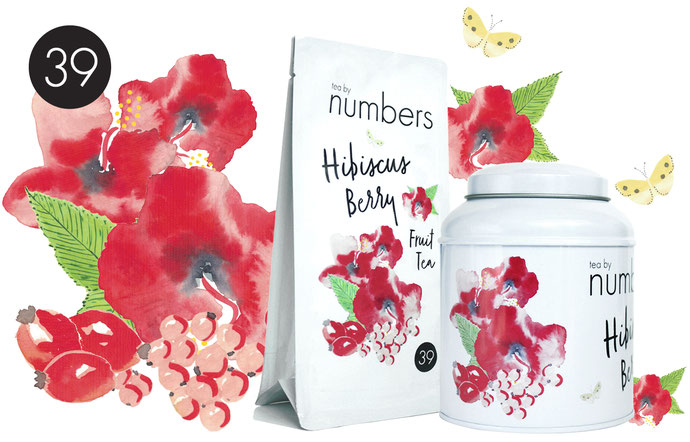No39 Hibiscus Berry Teabynumbers