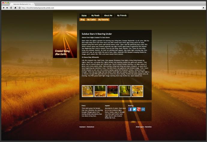 Screenshot: JimdoFree-Layout #F4218