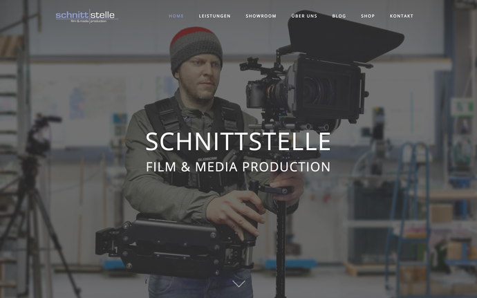 Amazing Film Maker Jimdo Template Official Website - Cinematographer website templates