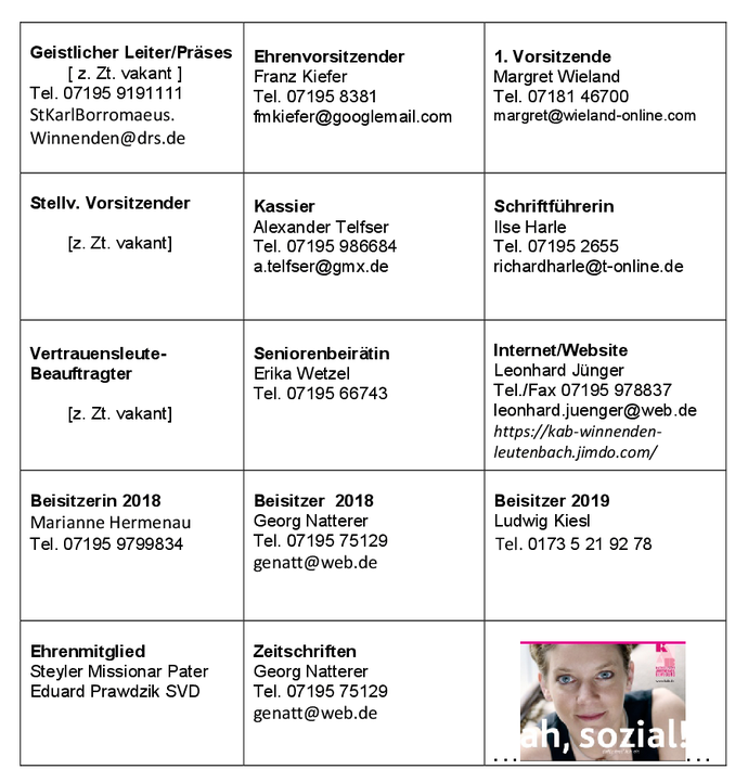 KAB Winnenden-Leutenbach Vorstandschaft - 11.03.2018