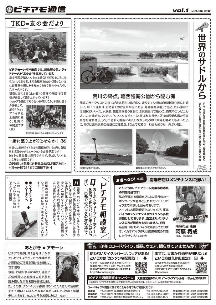 ビチアモ通信1 マンガニュースレター
