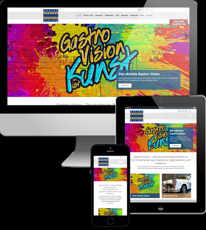 Jimdo responsive Web Design Gastro Vision