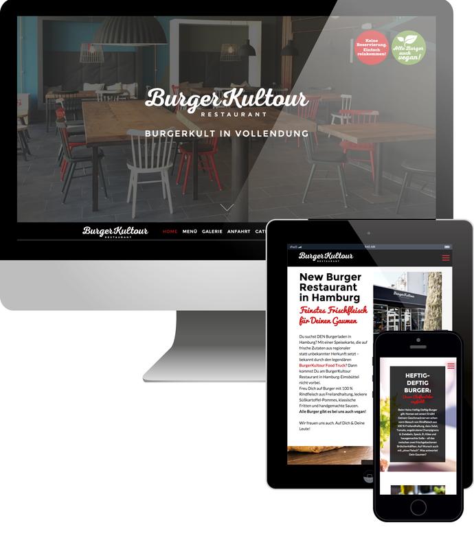 Burgerkultour Restaurant Hamburg Webdesign